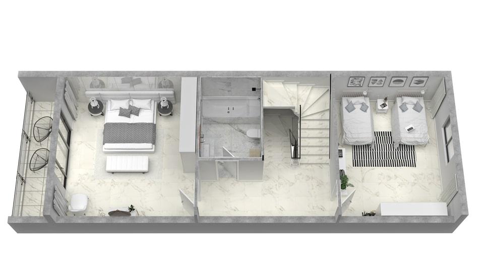 2 Beds First Floor